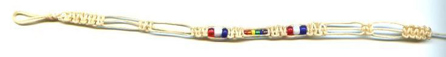 White cord, American Pride & Rainbow glass beads