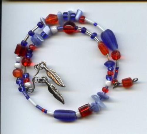Patriotic Memory Wire Bracelet