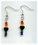 Silver plated Hematite Heart Earrings