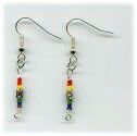 Silver-plated Pewter Tribal Earrings