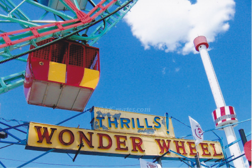 Wonder Wheel With Astrotower  Card