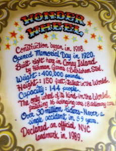 Wonder Wheel Info