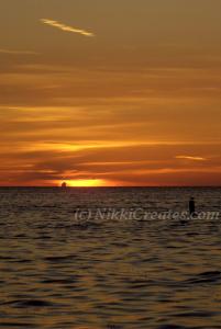 Deep Orange Sunset with Streak