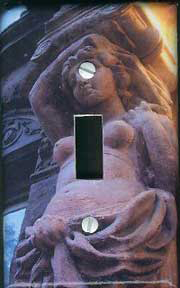Light switch plate-Saint Marc's Place statue, NYC