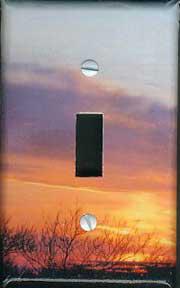 Light switch plate-Brooklyn sunset, NYC