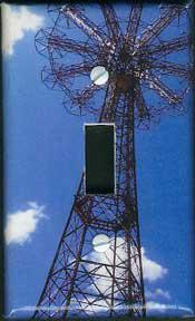 Light switch plate-Parachute Jump, Coney Island