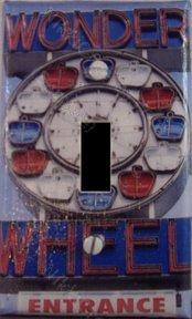 Light Switch plate :  Wonder Wheel neon sign