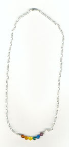 Silver Plated Necklace with Rainbow crystals