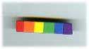Military rainbow bar pin