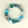 Ring-Assorted turquoise glass beads